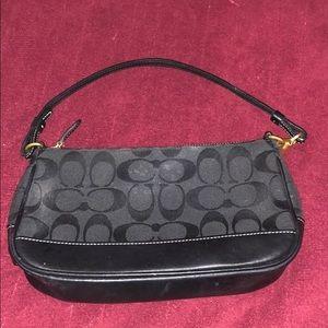 COACH Black signature C wristlets mini purse